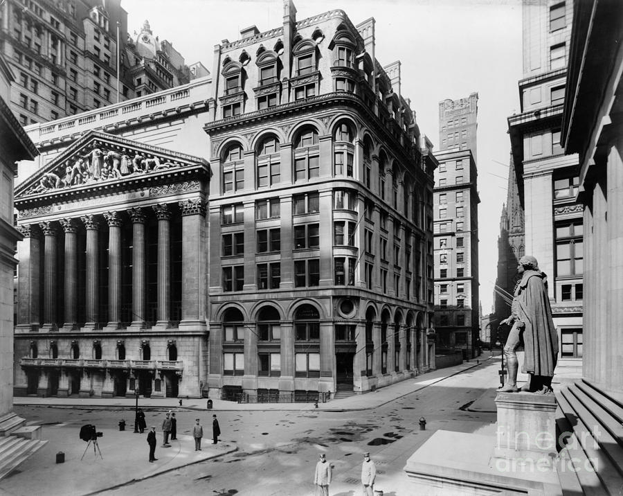 1908 Photograph - Stock Exchange, C1908 by Granger