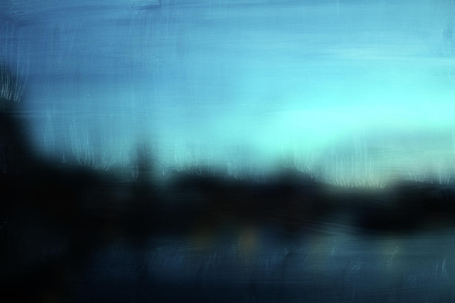 Abstract Mixed Media - Stockholm Blue- Art By Linda Woods by Linda Woods