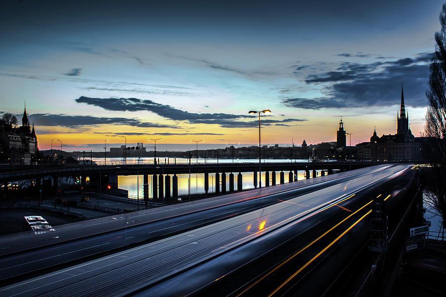 Slussen Photograph - Stockholm Night - Slussen by Nicklas Gustafsson