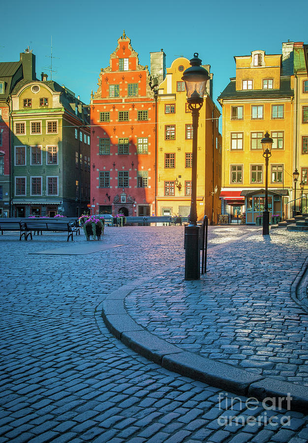 Europe Photograph - Stockholm Stortorget Square by Inge Johnsson