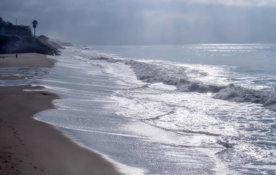 Ocean Digital Art - Stockton Riviera 3 by Terry Davis