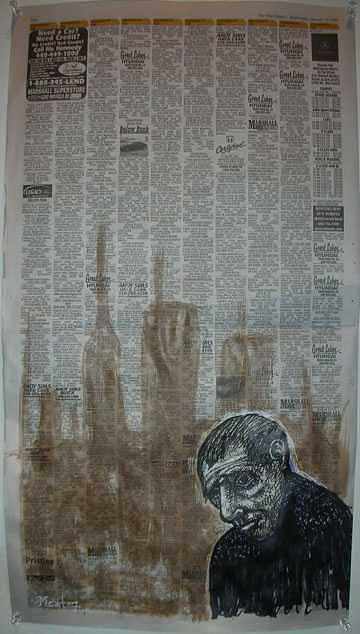 Stolen Car Painting by Meat-Jeffery Paul Gadbois