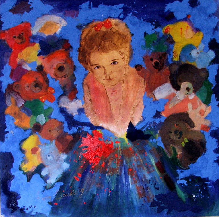 Child Painting - Stolen Child by Evrim Ozeskici