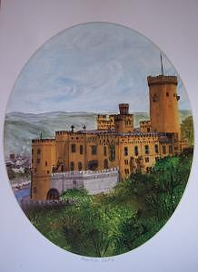 Castle Print - Stolenfels Castle by Rose Wood