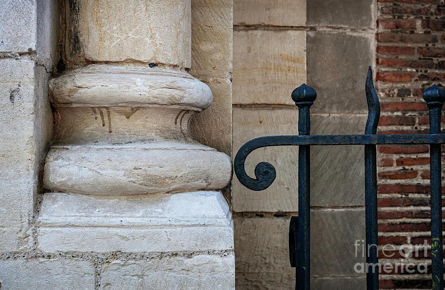 Column Photograph - Stone And Metal by Elena Elisseeva