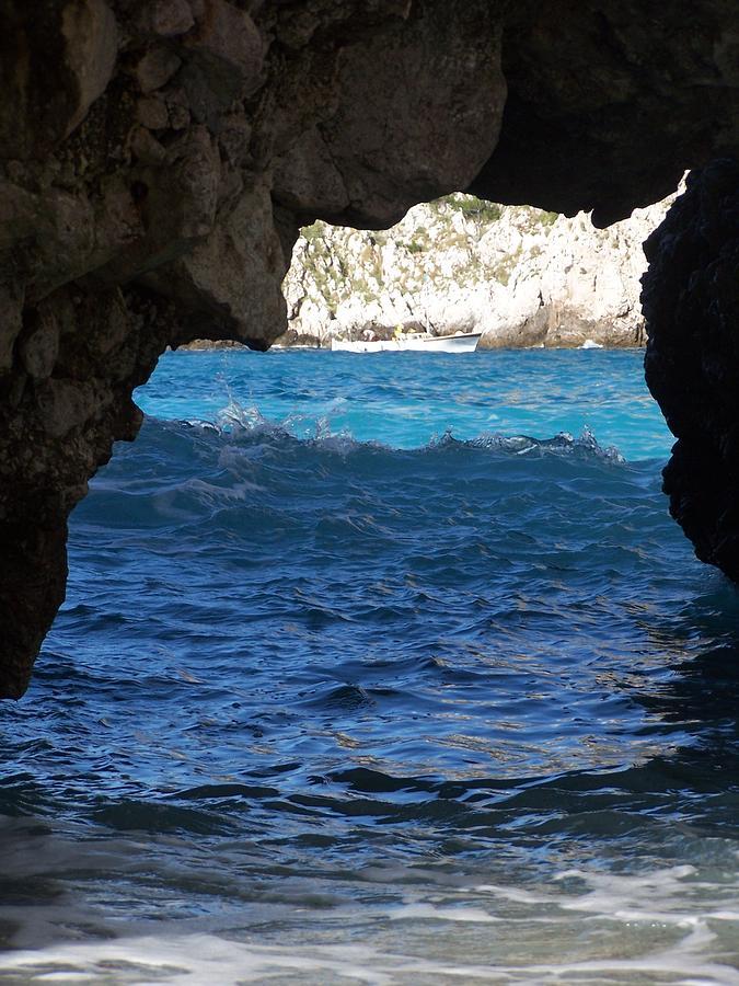 Capri Photograph - Stone And Sea 2 by Adam Schwartz