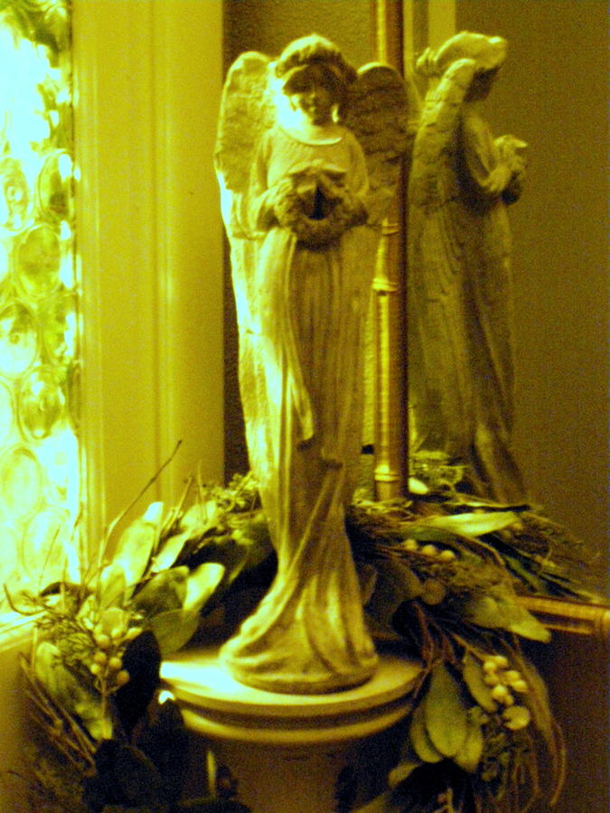 Angel Photograph - Stone Angel by Christine Sullivan Cuozzo