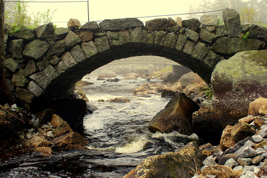 Architecture Photograph - Stone Arch Up Close by Lois Lepisto