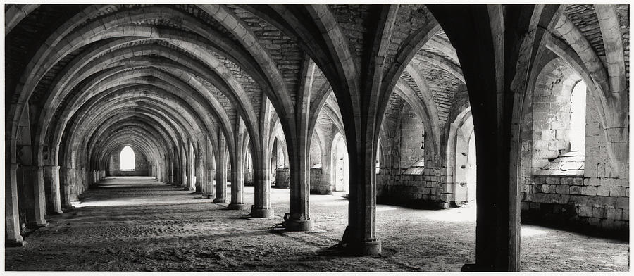 Fountains Abbey Photograph - Stone Arches by Michael Hudson