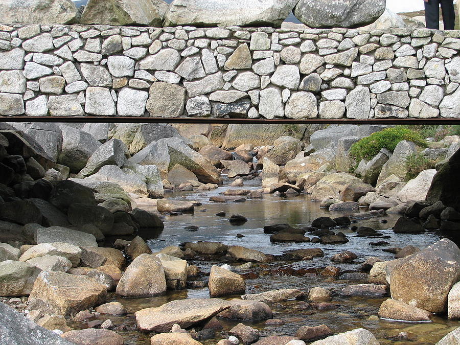 Stone Photograph - Stone Bridge by Kelly Mezzapelle
