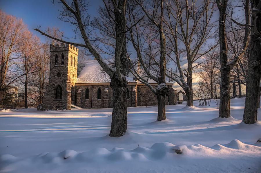 Stone Church In Oil Photograph by Cornelia DeDona