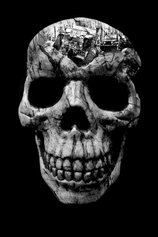 Jeep Photograph - Stone Cold Jeeper Skull No. 1 by Luke Moore