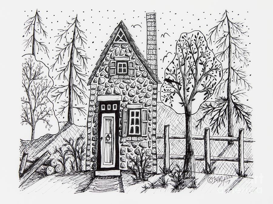 Stone Cottage Drawing By Karla Gerard