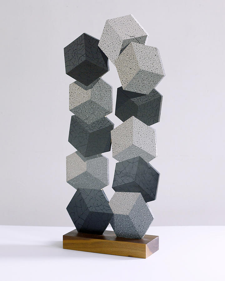 Stone Cubes Sculpture by Marston A Jaquis