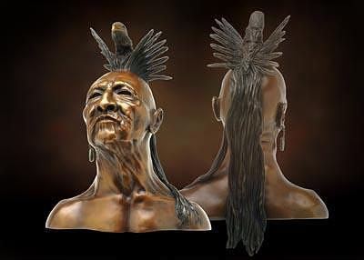 Indian Sculptures Sculpture - Stone Eagle by Tom White