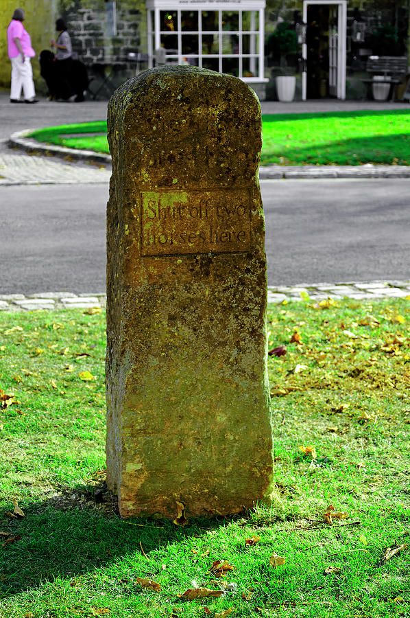 Stone For Shutting Off Two Horses - Broadway Photograph