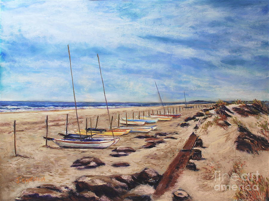 Landscape Pastel - Stone Harbor by Joyce A Guariglia