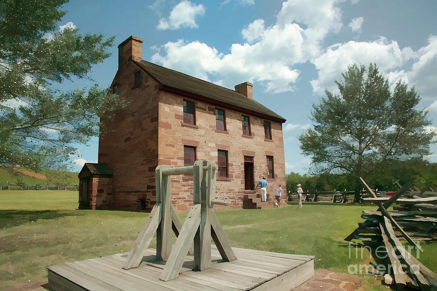 Battle Of Bull Run Digital Art - Stone House At Manassas With Digital Effects by William Kuta