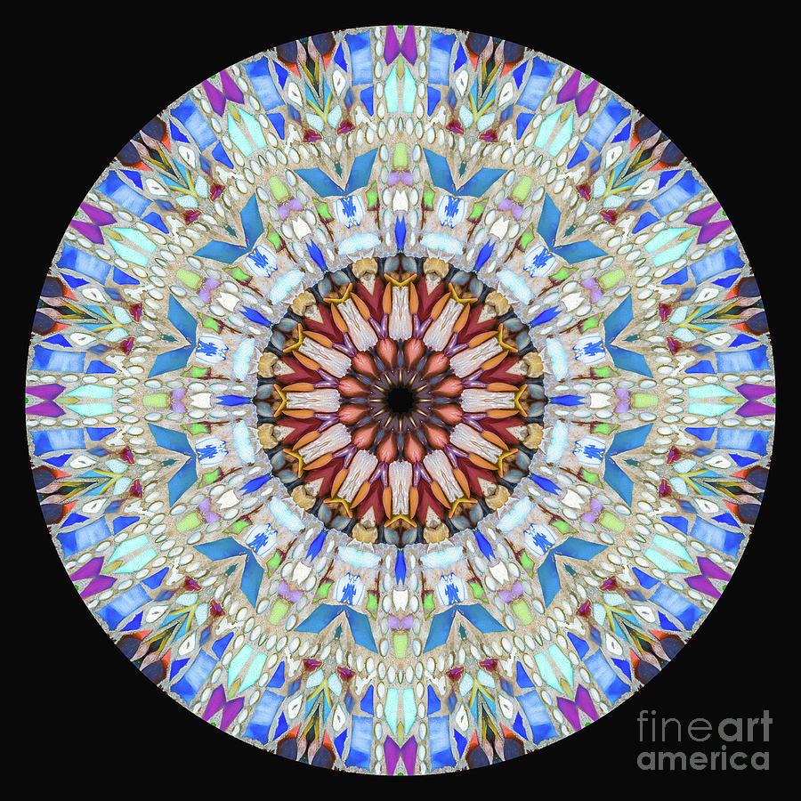 Stone Mosaic Mandala Photograph