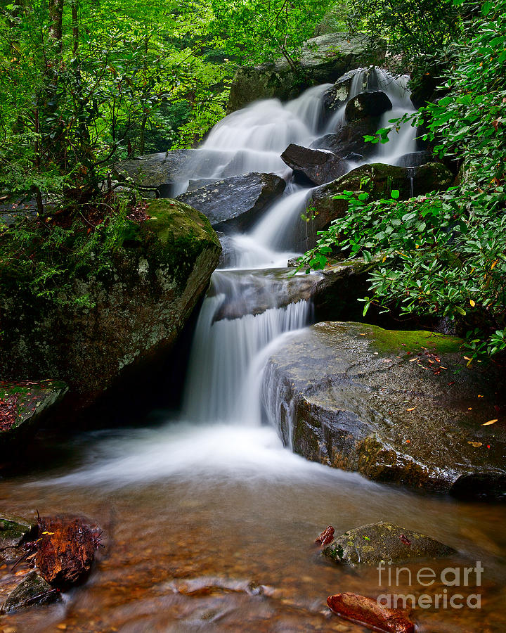 Adventure Photograph - Stone Mountain Falls by Steven Dillon