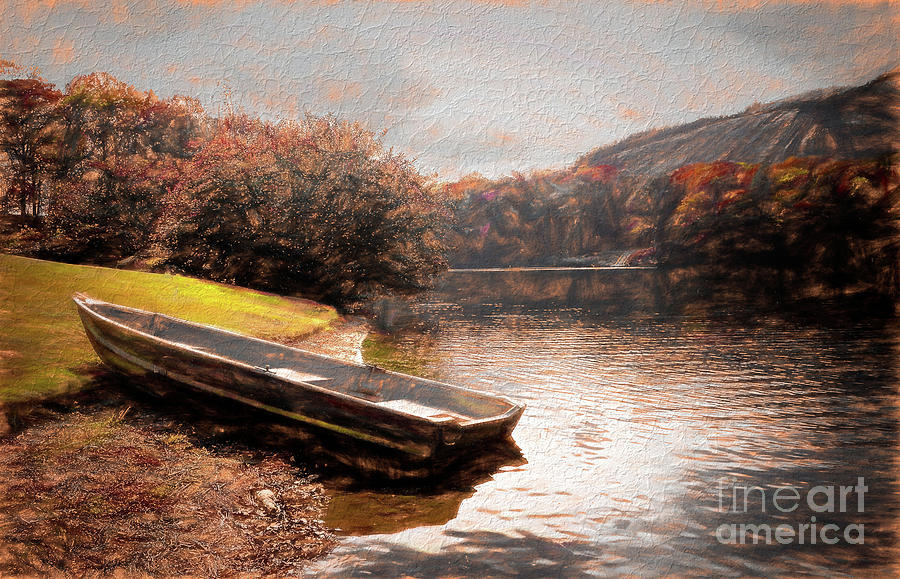 Stone Mountain Lake Digital Art By Irene Dowdy