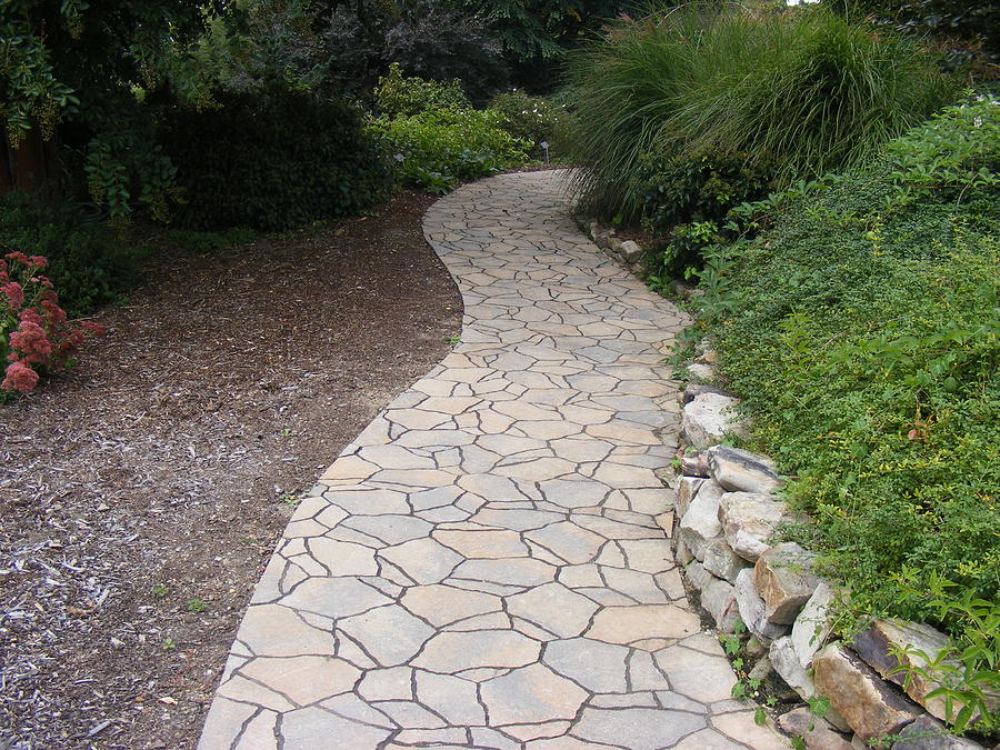 Path Photograph - Stone Path by James and Vickie Rankin