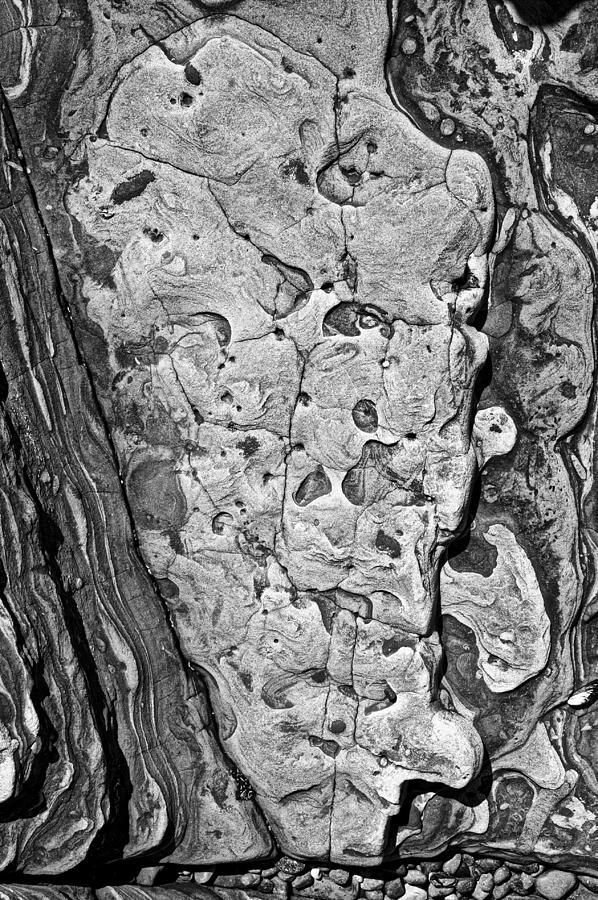 Landscape Photograph - Stone Patterns Rock Map by Garry Gay