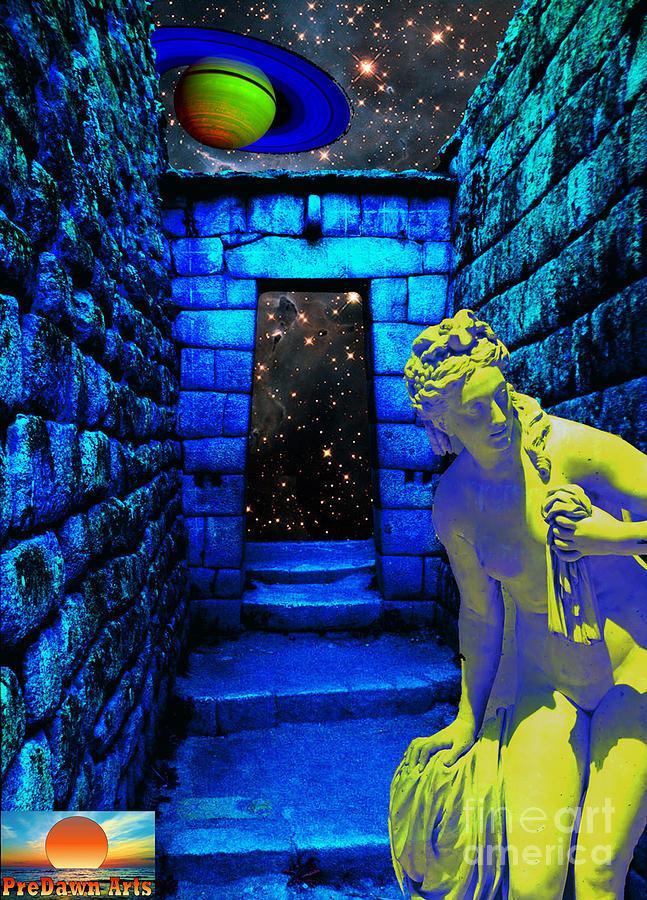 Surreal Digital Art - Stone Portal by Vito Valenti