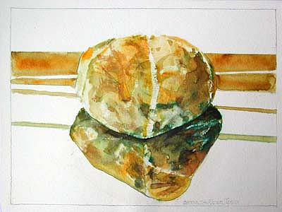 Watercolor Painting - Stone Reflections by Jon Rader Jarvis