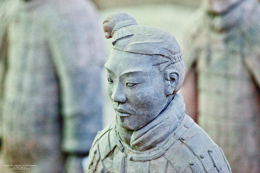 China Digital Art - Stone Sentry by Christopher Eng-Wong