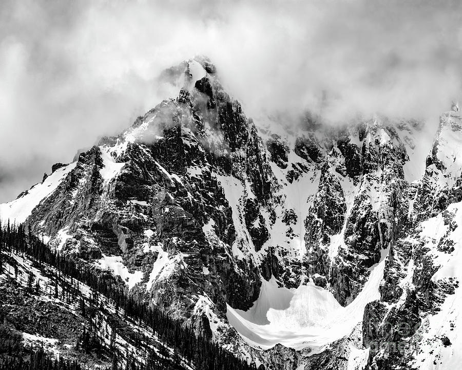 Mountain Photograph - Stone Spire And Bowl Glacier by Madonna Martin