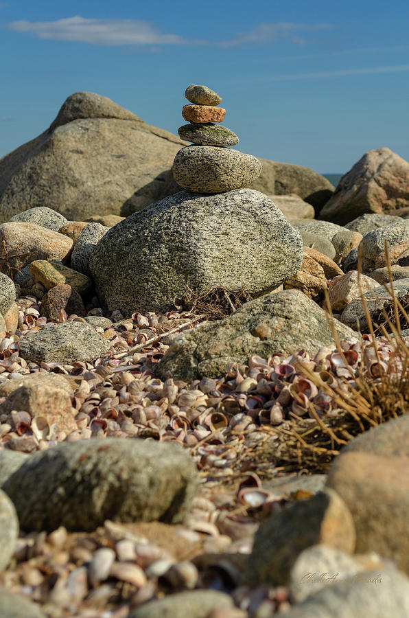Stone Photograph - Stone Stack by ChelleAnne Paradis