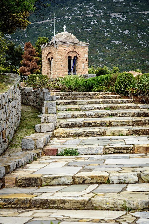 Stone Stair Walkway At Moni Osios Loukas In Distomo, Greece