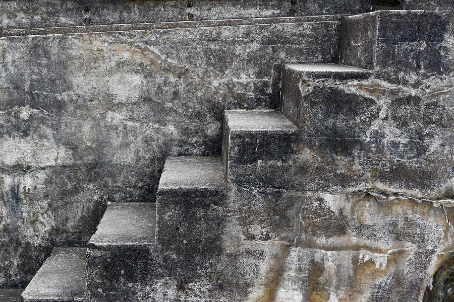 Coastal Fortifications Mixed Media - Stone Steps by Carol Leigh