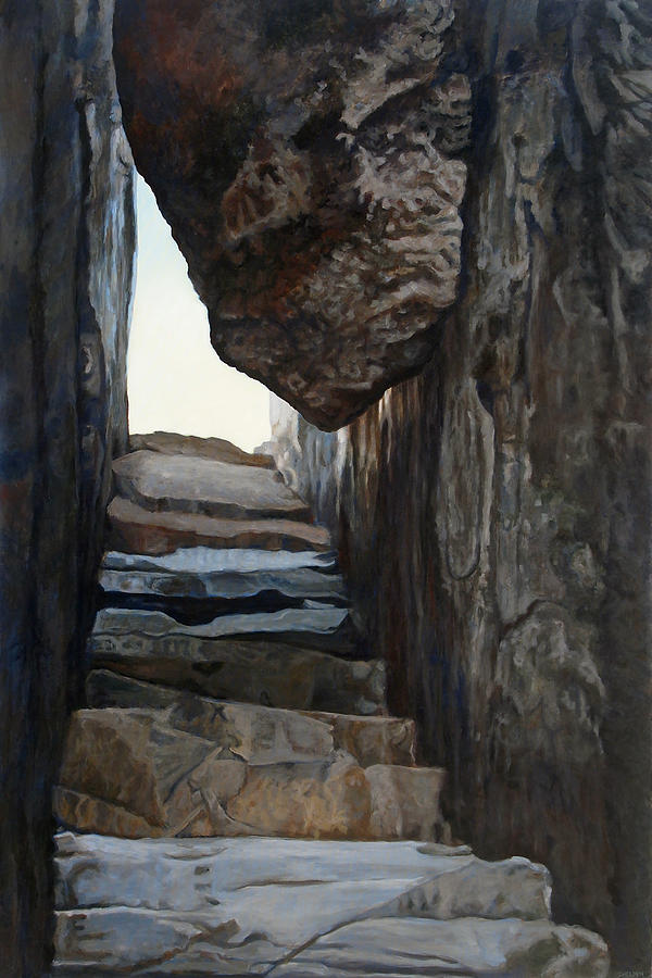 Old Rag Painting - Stone by Suzanne Shelden