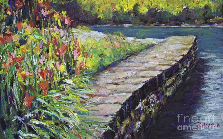 Stone Wall Pastel - Stone Wall by Joyce A Guariglia