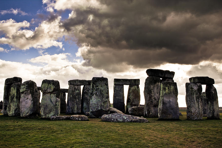 Landscape Photograph - Stonehenge after the Storm by Justin Albrecht