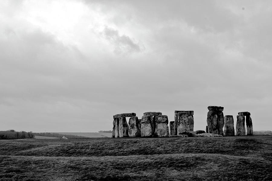 Stonehenge - B/w 1 Photograph by Tyler Vendetti