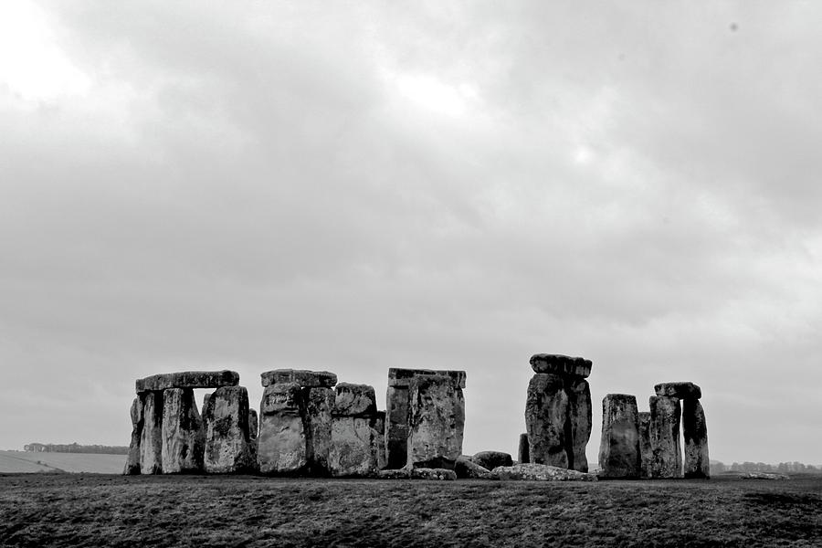 Stonehenge - B/w 2 Photograph by Tyler Vendetti