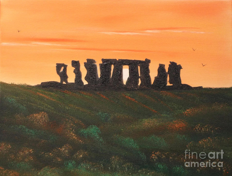 Stonehenge Painting - Stonehenge by Cynthia Adams