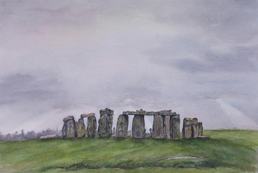 Stonehenge Painting - Stonehenge  by Debbie Homewood