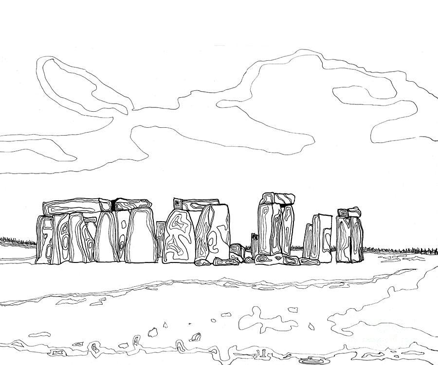 Stonehenge Painting - Stonehenge by Diane Marcotte