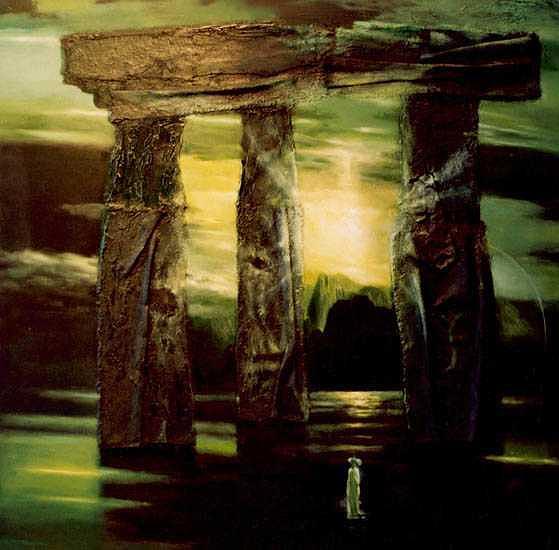 Mixed Media Painting - Stonehenge by Izya Shlosberg