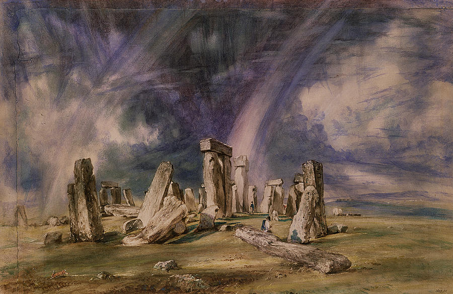 Stonehenge Painting - Stonehenge by John Constable