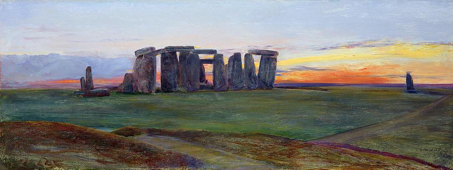 John William Inchbold Painting - Stonehenge by John William Inchbold
