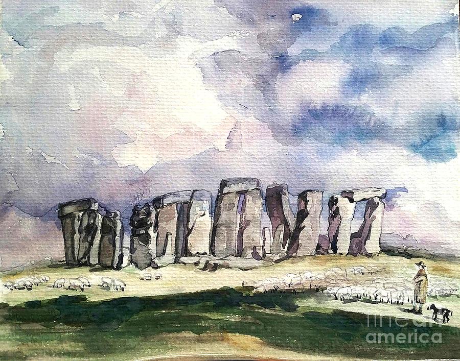 Stonehenge Painting - Stonehenge by AQQ Studio