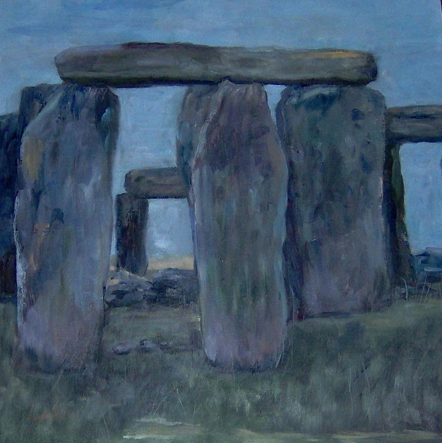 Historical Painting - Stonehenge by Lorna Skeie