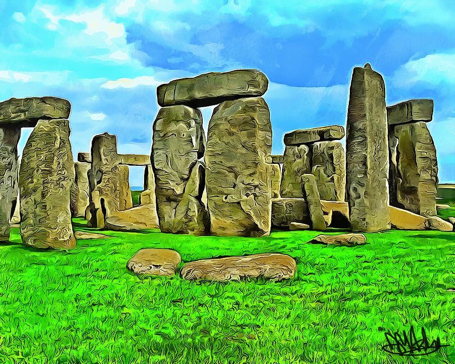 Stonehenge Digital Art - Stonehenge by Mark Ashley
