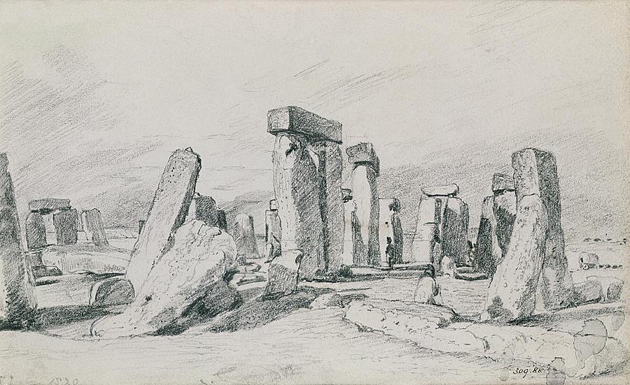 Stonehenge Drawing - Stonehenge Wiltshire by John Constable