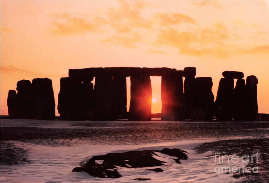 Stonehenge Painting - Stonehenge Winter Solstice by English School